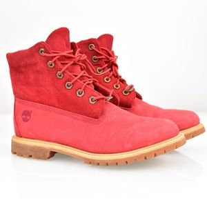 Ladies Timberland Red Leather boots
